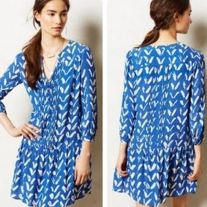 Maeve {Anthropologie}- Blue Caravane tunic Dress